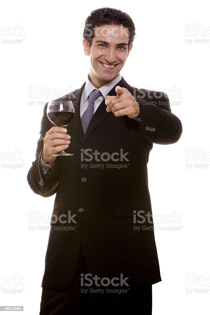 Businessman celebrating royalty-free stock photo
