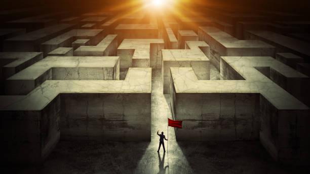 Geschäftsmann Herausforderung. Erfolgskonzept – Foto