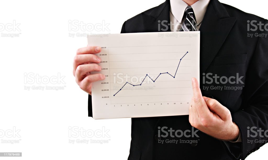 Businessman Chart royalty-free stock photo