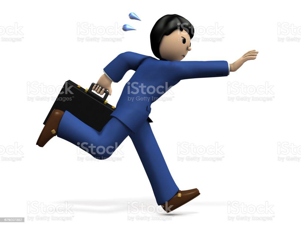 Un homme d'affaires courir après quelque chose. photo libre de droits