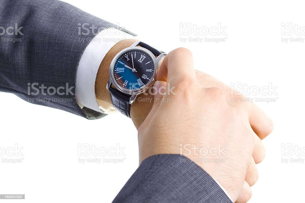 Businessman Checking his Watch royalty-free stock photo