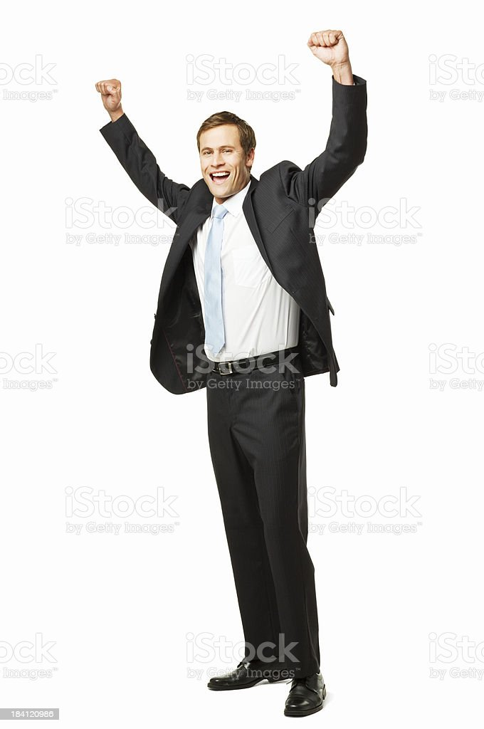 Businessman Cheering - Isolated royalty-free stock photo