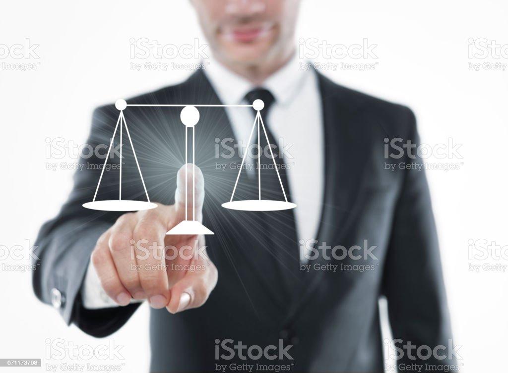 Justicia elegir empresario - foto de stock