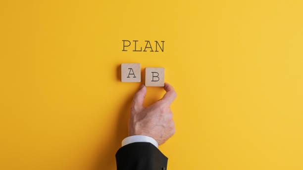 Geschäftsmann wählt Plan B – Foto