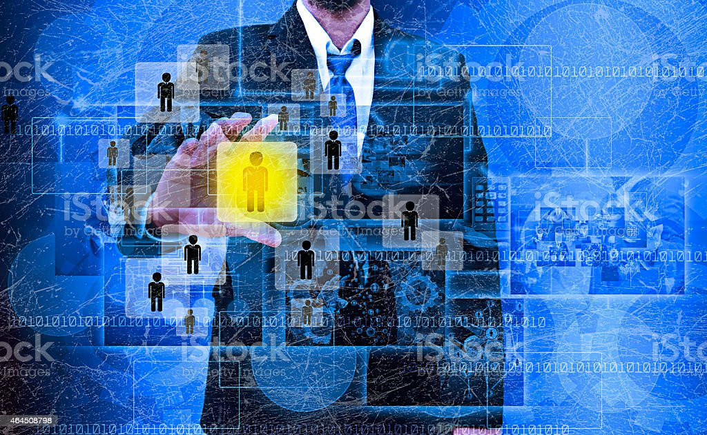 Businessman Choosing the right person in the old texture Businessman Choosing the right person in the old texture 2015 Stock Photo