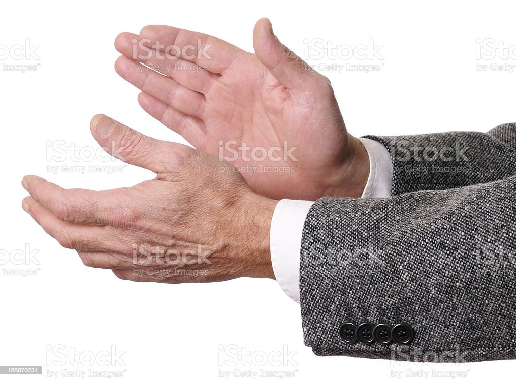 Businessman Clapping Hands royalty-free stock photo