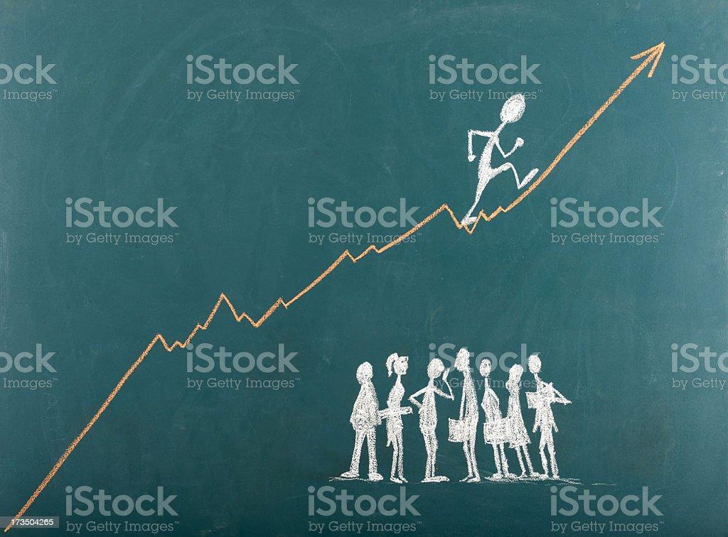 Empresário subindo A Escada do Sucesso - foto de acervo