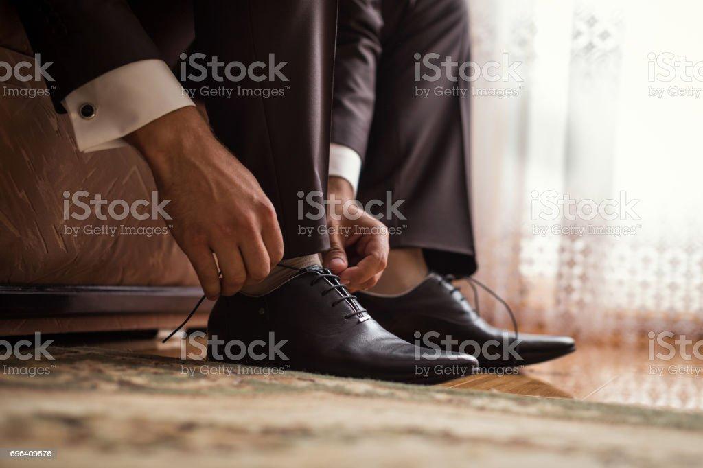 07b2ed8421 Foto de Empresário Roupas Sapatos Político Estilo Do Homem ...