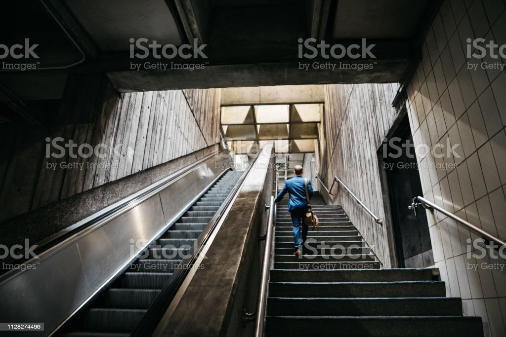 businessman commuting stock photo