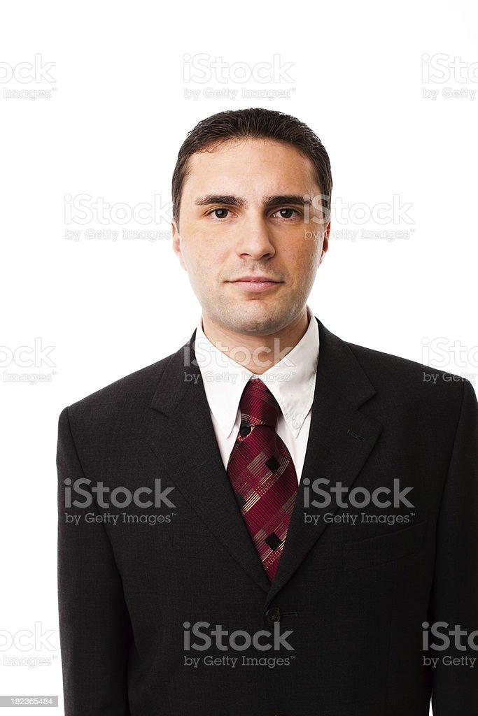 Businessman Confident, Studio Portrait royalty-free stock photo