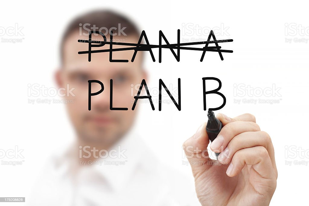 Businessman Considering Plan B royalty-free stock photo