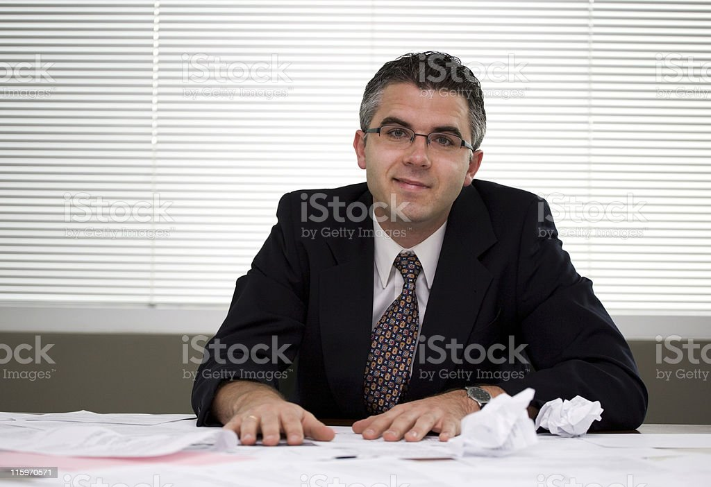 Businessman  content royalty-free stock photo
