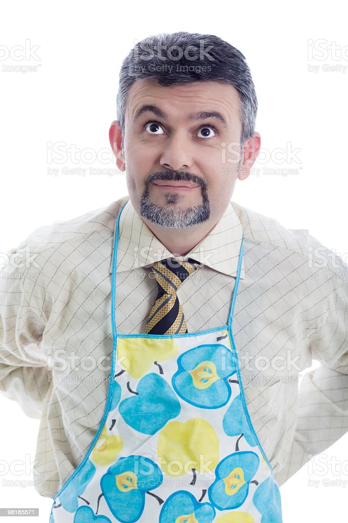 Businessman cooking royalty-free stock photo