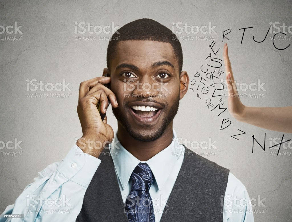 businessman corporate executive with smart phone stock photo