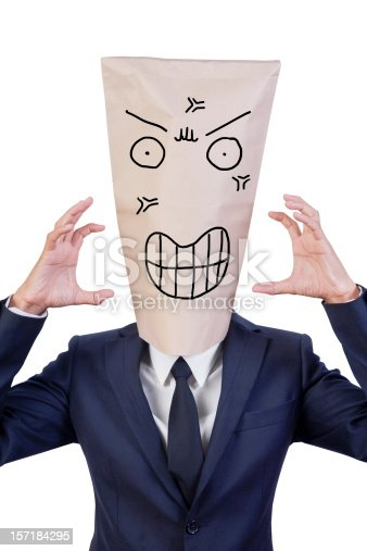 istock businessman cover his head with bag 157184295