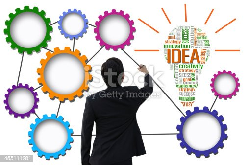 istock Businessman create idea system for business concept 455111281