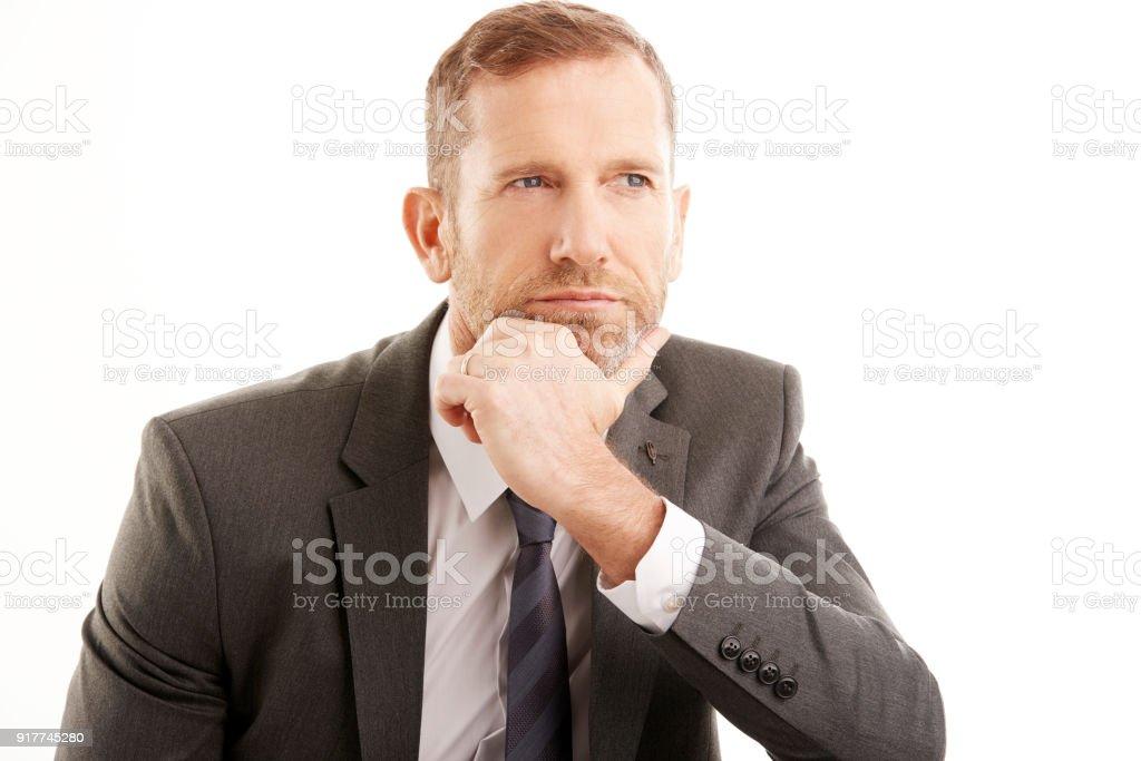 Homme d'affaires de penser en - Photo