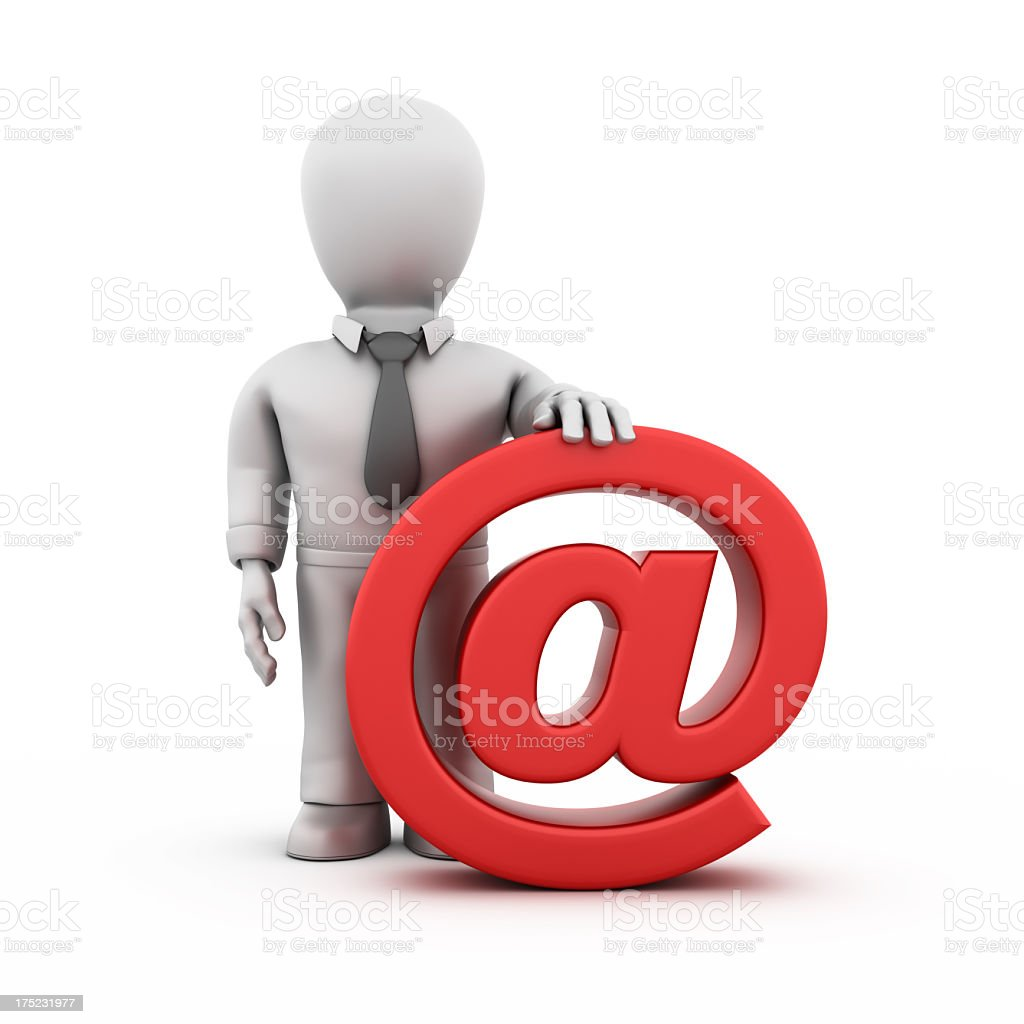 Businessman Delivering the e-mail royalty-free stock photo