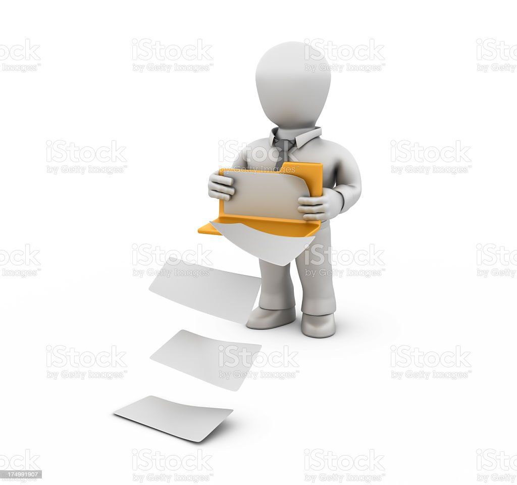 Businessman Delivering the Files royalty-free stock photo