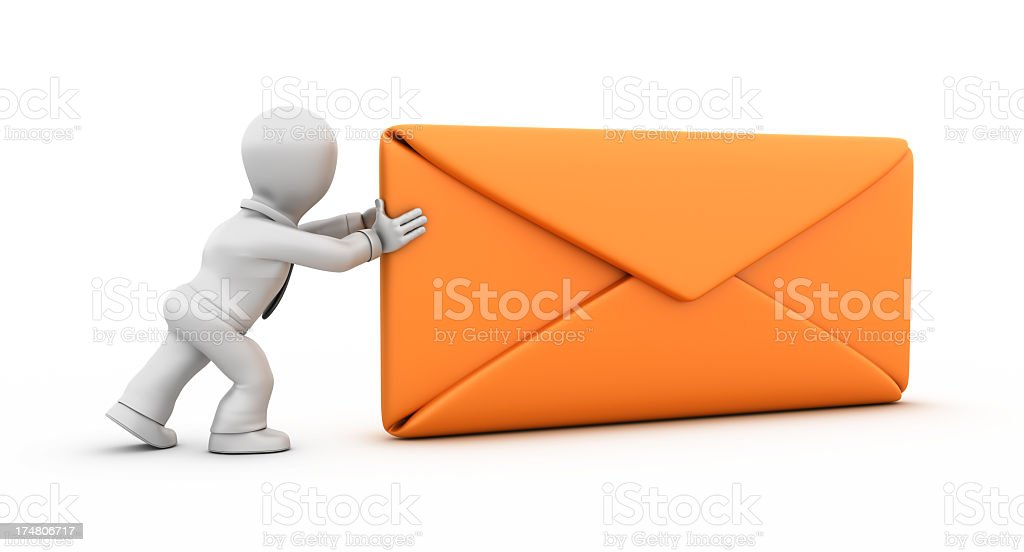 Businessman Delivering the Mail royalty-free stock photo