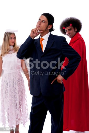 istock businessman, devil and angel 147087721
