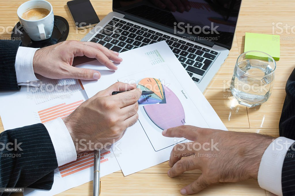 Businessman discussing about new project stock photo