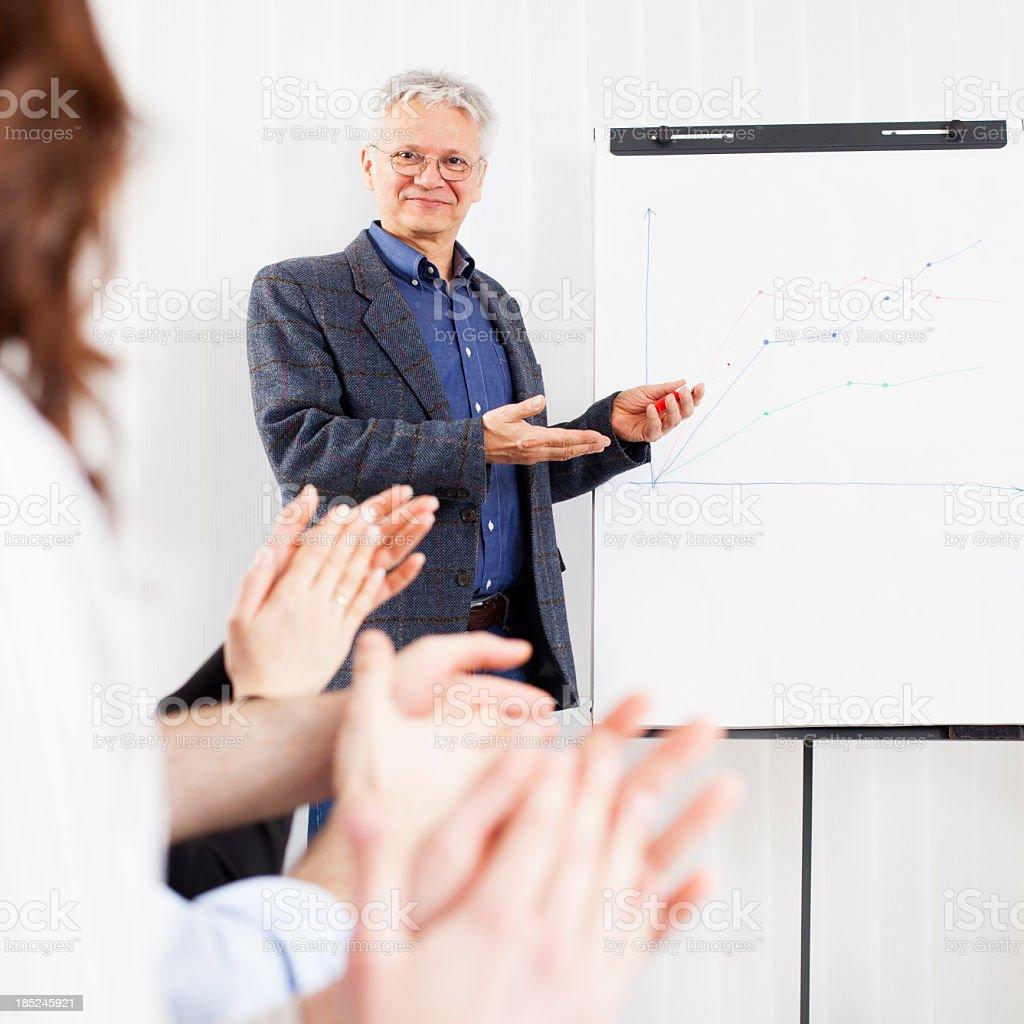 Businessman Doing Presentation royalty-free stock photo