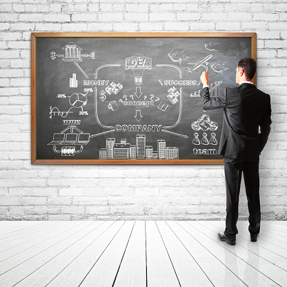 istock businessman drawing scheme 470576080