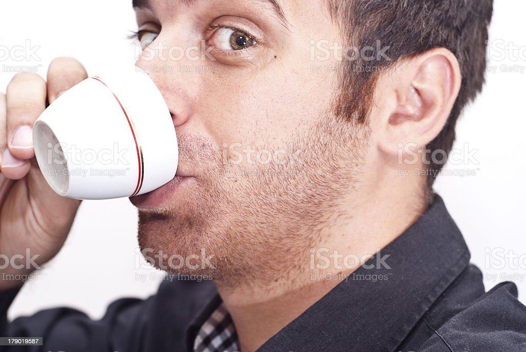 businessman drinking coffee royalty-free stock photo