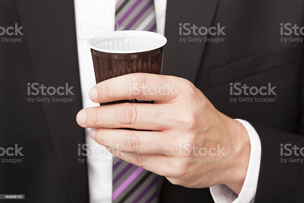 Businessman drinking coffee royalty-free stock photo
