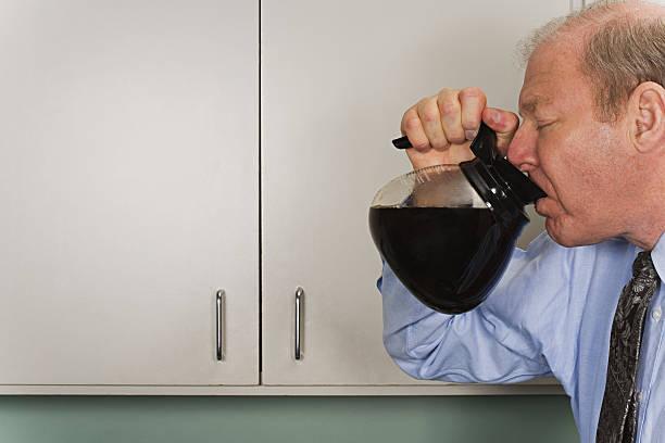 Geschäftsmann, trinken Kaffee pot – Foto