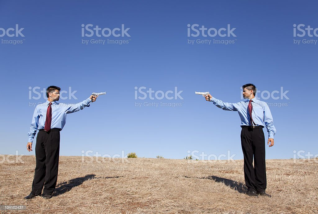 Businessman duel royalty-free stock photo
