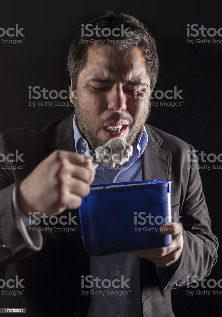 Businessman eating Ice Cream royalty-free stock photo