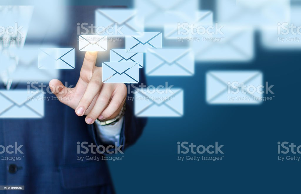 Businessman email concept stock photo
