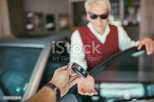 1138561232 istock photo Businessman enjoying new car 1000032606