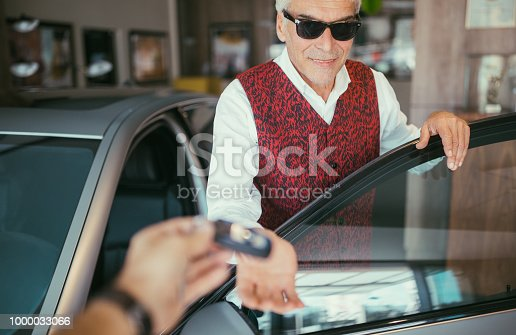 1138561232 istock photo Businessman enjoying new car 1000033066