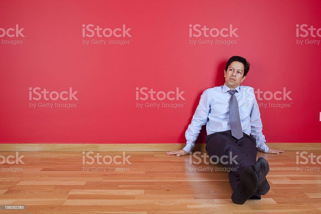businessman enjoying the new house royalty-free stock photo