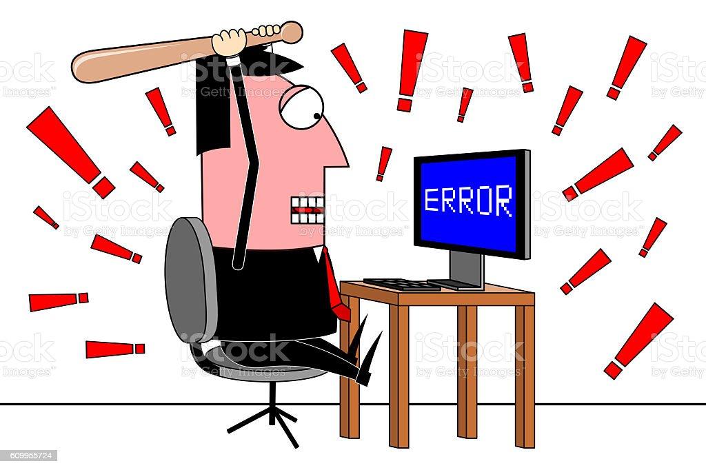 Businessman, error clip-art stock photo