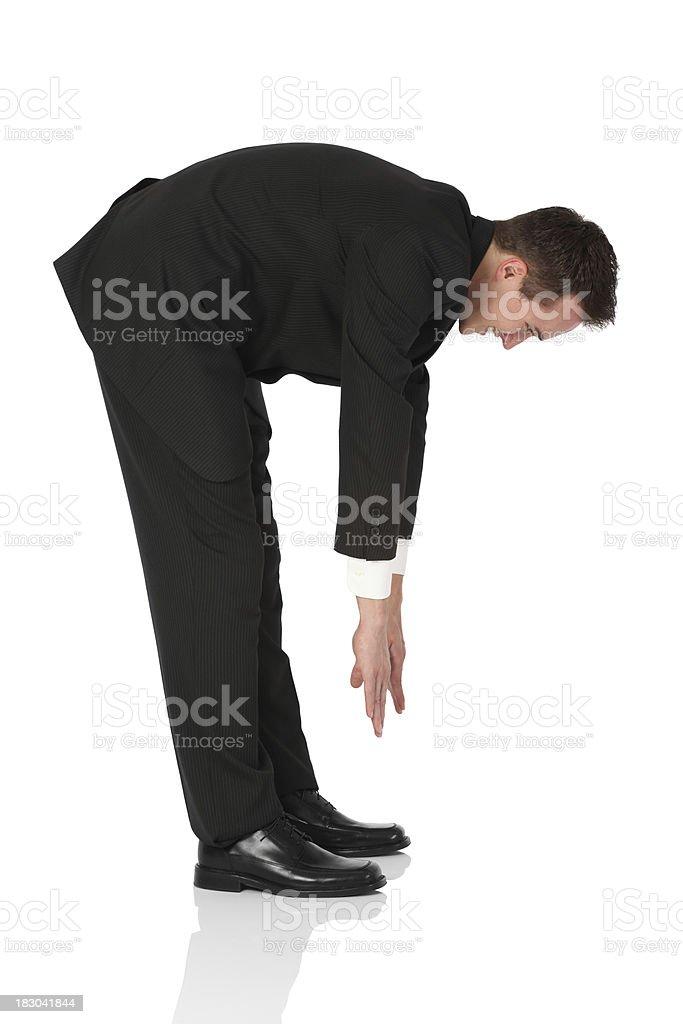 Businessman exercising stock photo