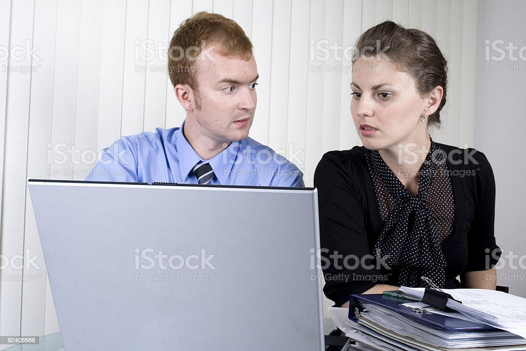 Businessman explaining problem to his parner royalty-free stock photo