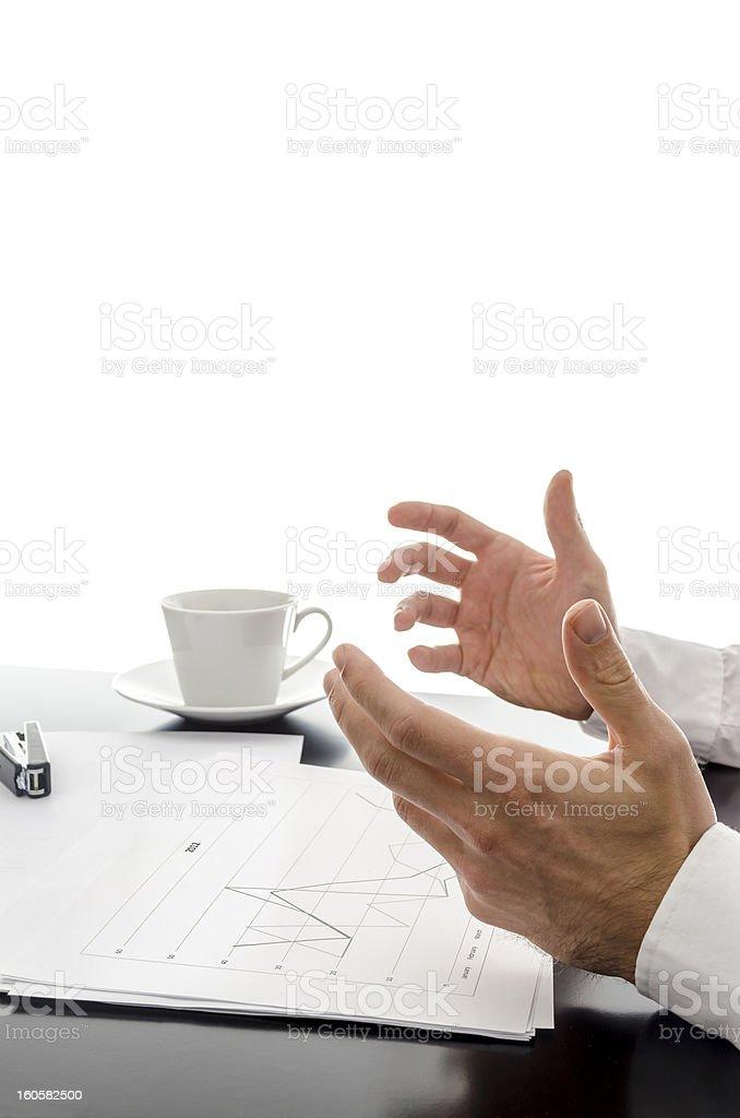 Businessman explaining strategy royalty-free stock photo