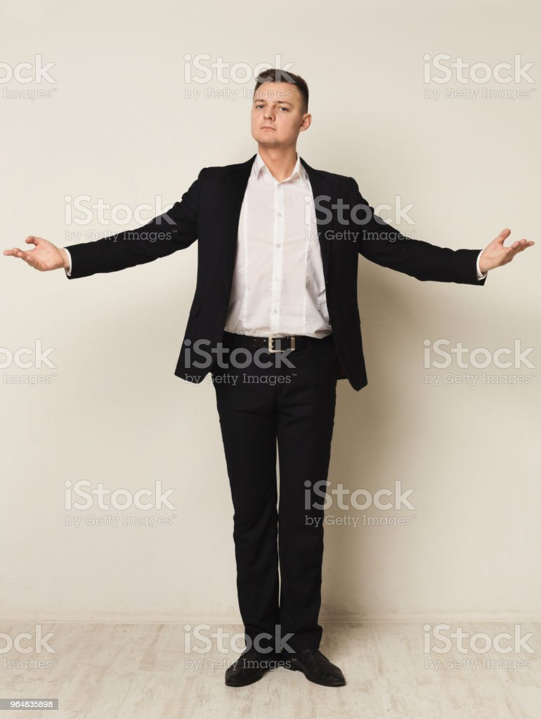 Businessman expressing positivity and success royalty-free stock photo