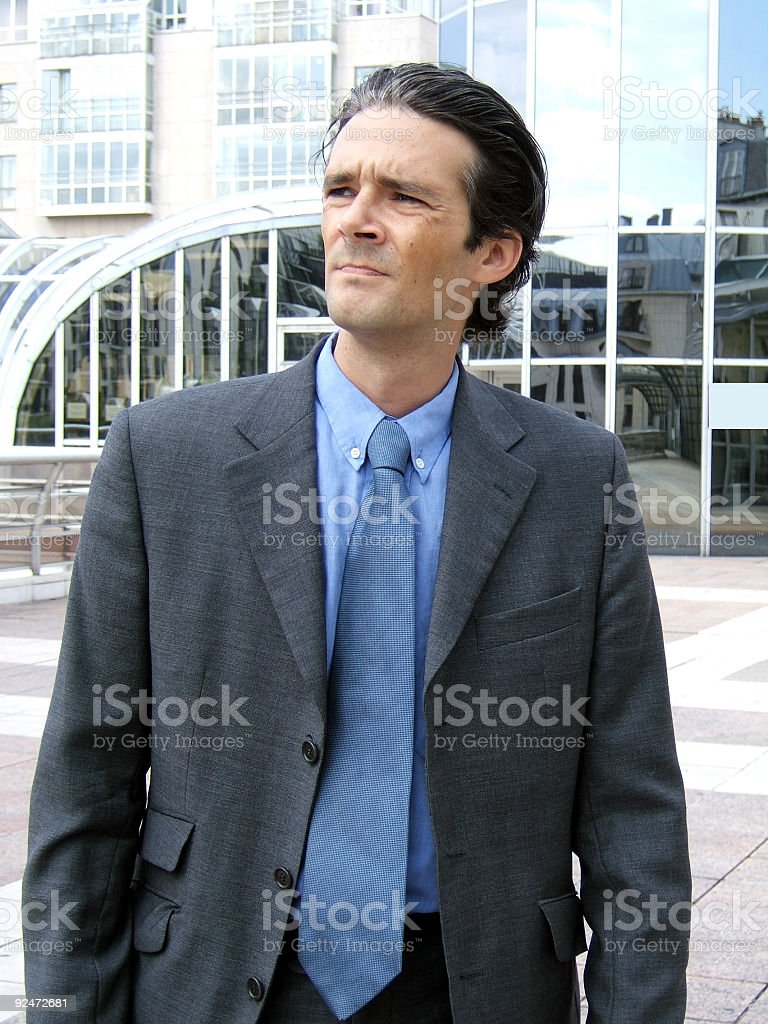 Businessman expression royalty-free stock photo