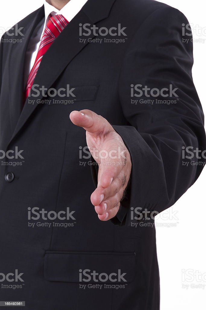 Businessman Extends Hand royalty-free stock photo