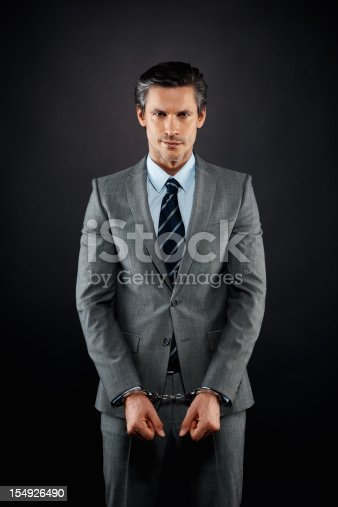 istock Businessman feeling trapped 154926490