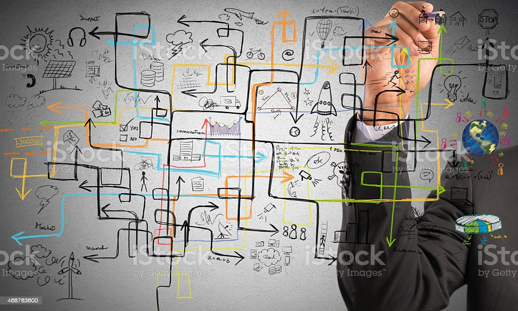 Businessman find a solution stock photo