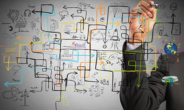 businessman find a solution - complexity stock photos and pictures