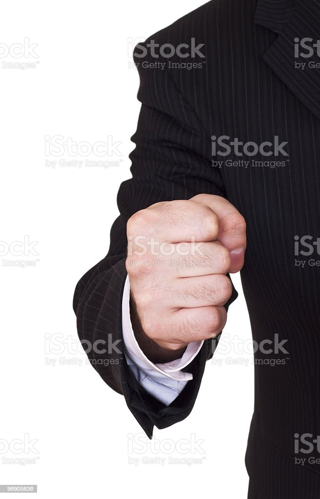 businessman fist royalty-free stock photo