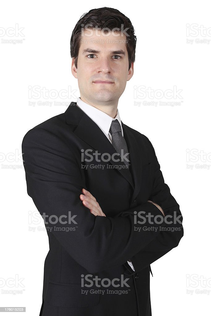 Businessman folding arms royalty-free stock photo