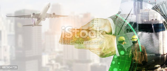 istock businessman for Industrial  Logistic Import Export 682804728